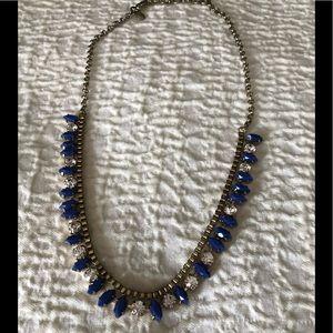 JCREW factory necklace with purple gems